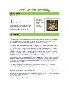 Nov 2013 2nd Grade Newsletter pg1