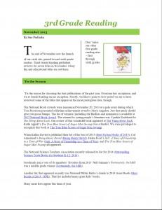Nov 2013 3rd Grade Newsletter pg1