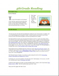 Nov 2013 4th Grade Newsletter pg1
