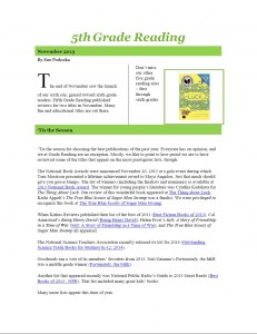 Nov 2013 5th Grade Newsletter pg1