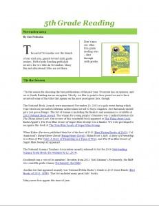 Nov 2013 5th Grade Newsletter pg1
